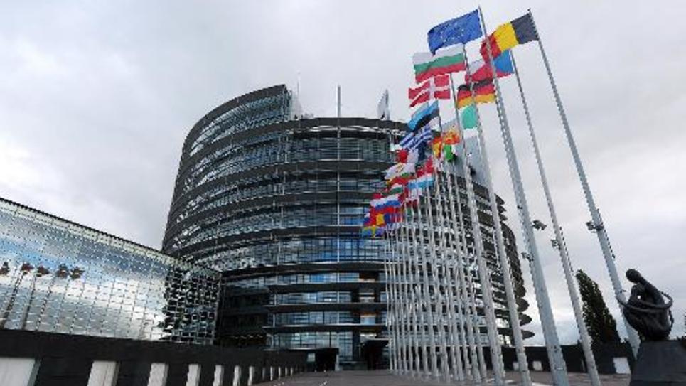 Le siège du Parlement européen à Strasbourg le 12 octobre 2012