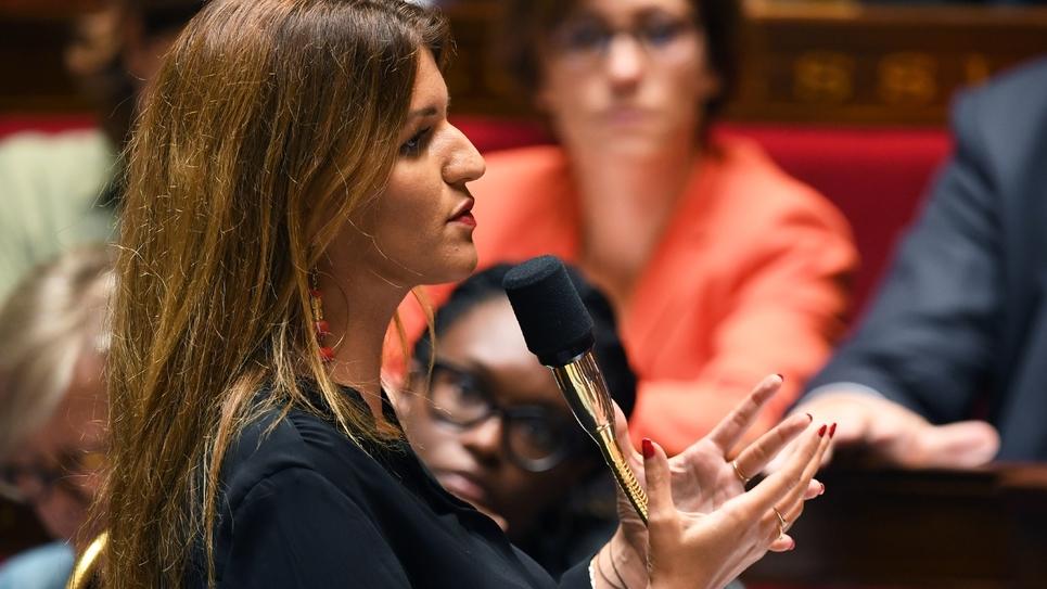 La secrétaire d'Etat chargée de l'Egalité entre les femmes et les hommes, Marlène Schiappa, à l'Assemblée nationale le 10 septembre 2019
