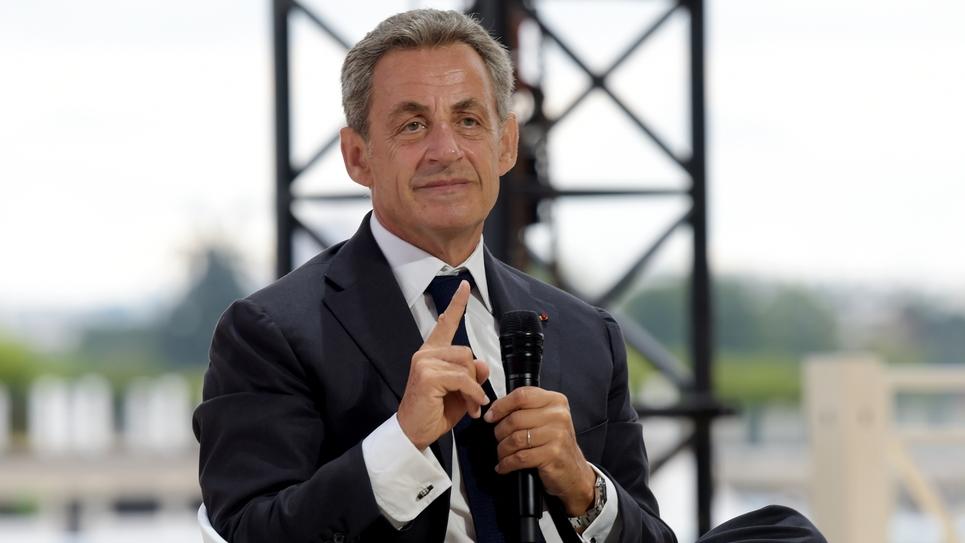 L'ancien président français Nicolas Sarkozy à l'université d'été du Medef à l'hippodrome de Longchamp, à Paris, le 29 août 2019