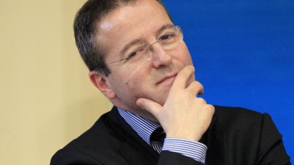 L'initiateur du RSA, Martin Hirsch, aujourd'hui directeur de l'Assistance Publique-Hôpitaux de Paris (AP-HP) le 07 mars 2012 à Paris
