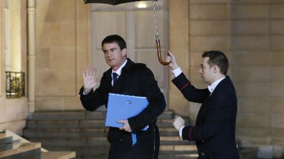 Le Premier ministre Manuel Valls, le 9 janvier 2015 à l'Elysée