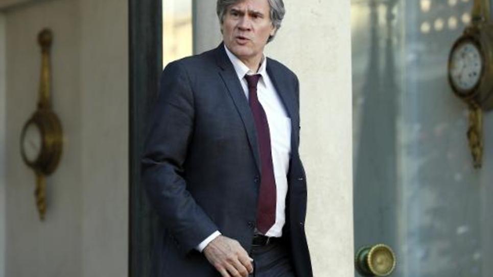 Le porte-parole du gouvernement, Stéphane Le Foll, à la sortie du Conseil des ministres le 14 janvier 2015 à Paris