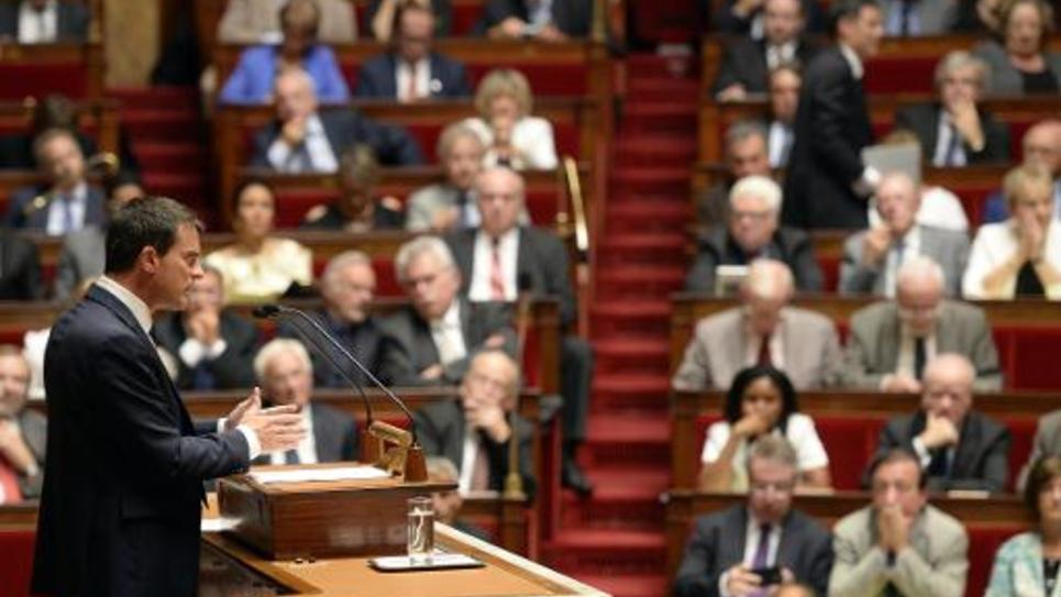 Le Premier ministre Manuel Valls à l'Assemblée nationale à Paris, le 16 septembre 2014