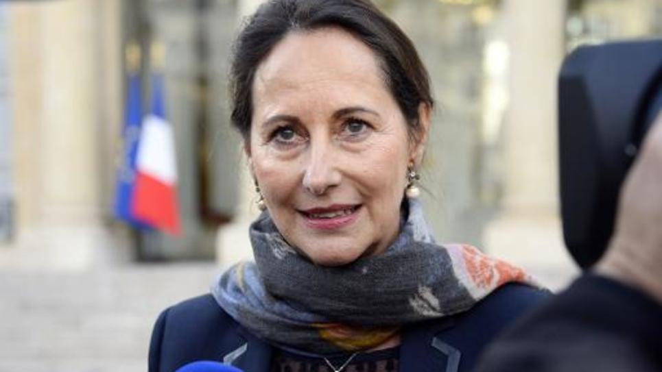 Ségolène Royal à l'issue du Conseil des ministres le 29 octobre 2014 dans la cour de l'Elysée à Paris