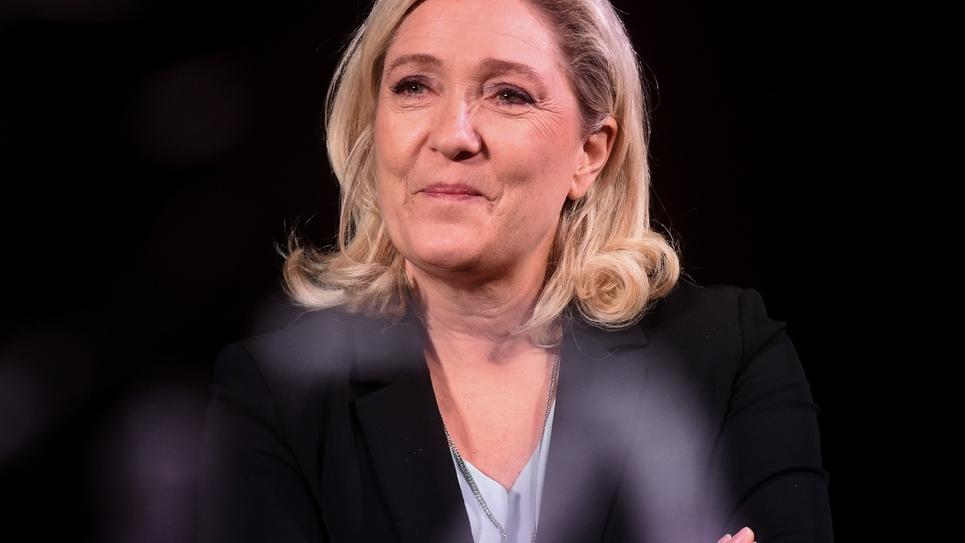 Marine Le Pen le 26 janvier 2020 à Hénin-Beaumont (Pas-de-Clalais)
