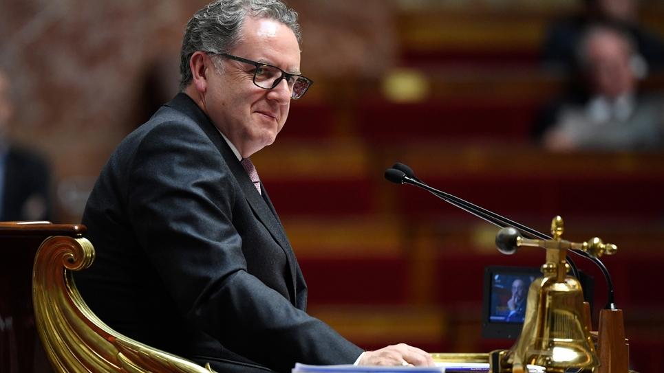 Le président de l'Assemblée Nationale Richard Ferrand, lors d'une session de questions au gouvernement, le 09 octobre 2018 à Paris
