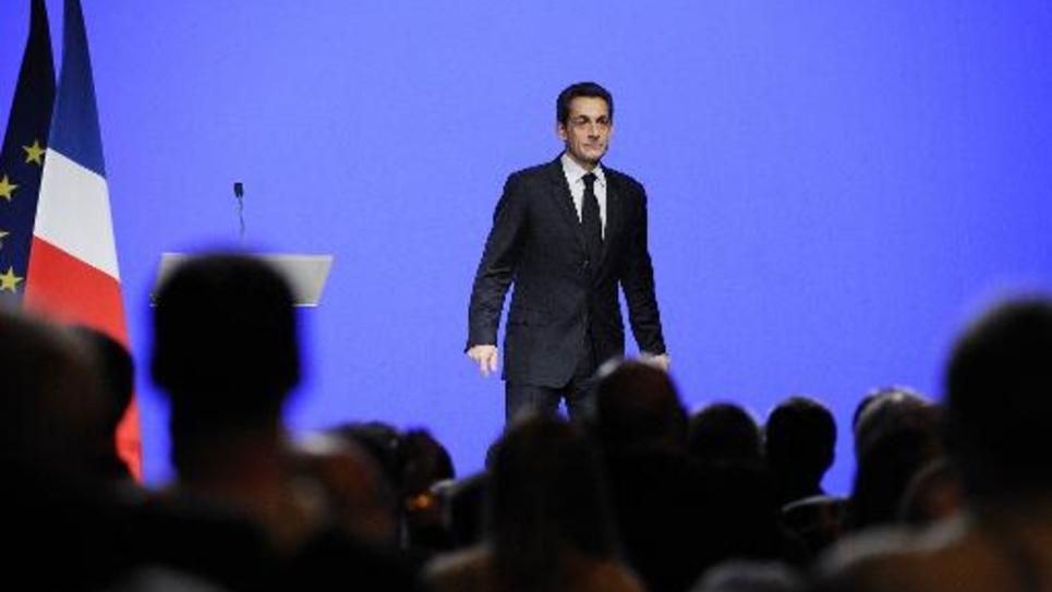 Nicolas Sarkozy en meeting à Toulon, le 1er décembre 2011