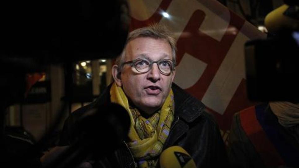Le secrétaire national du Parti communiste, Pierre Laurent, le 2 décembre 2014 à Paris