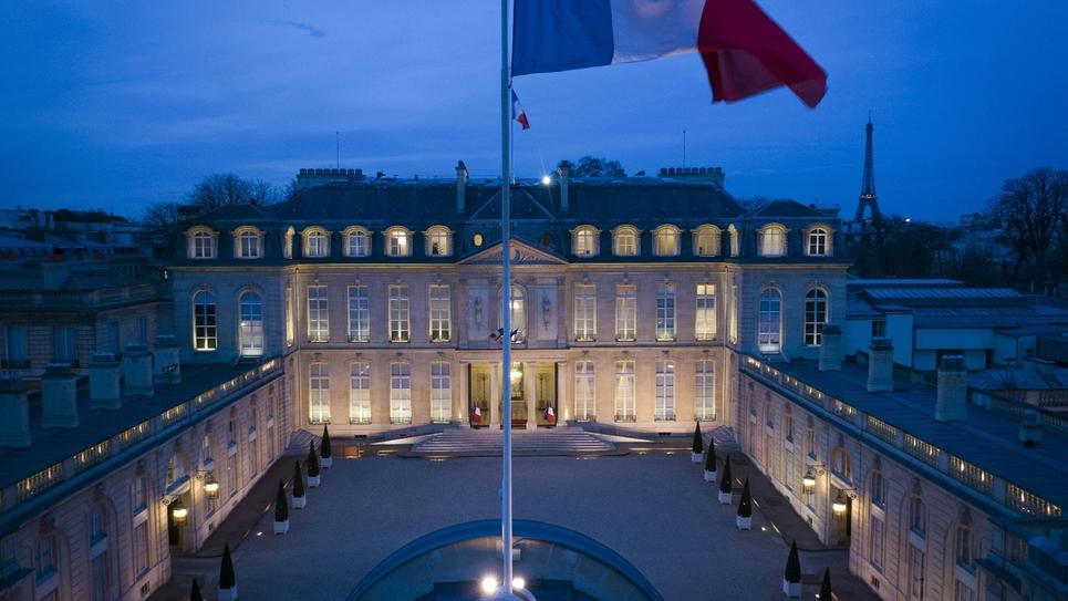 Le palais de l'Elysée, le 12 mars 2019 à Paris