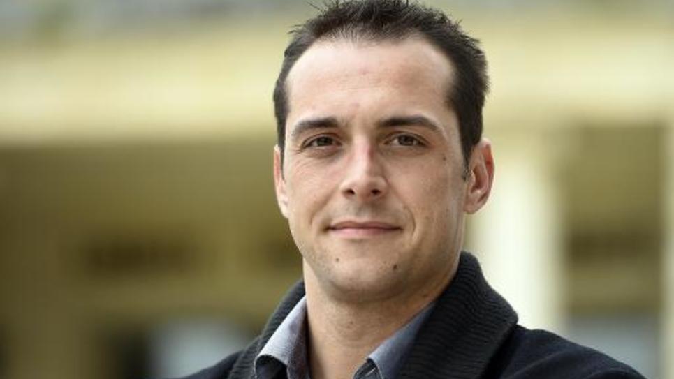 Le maire FN du Pontet Joris Hebrard le 1er avril 2014