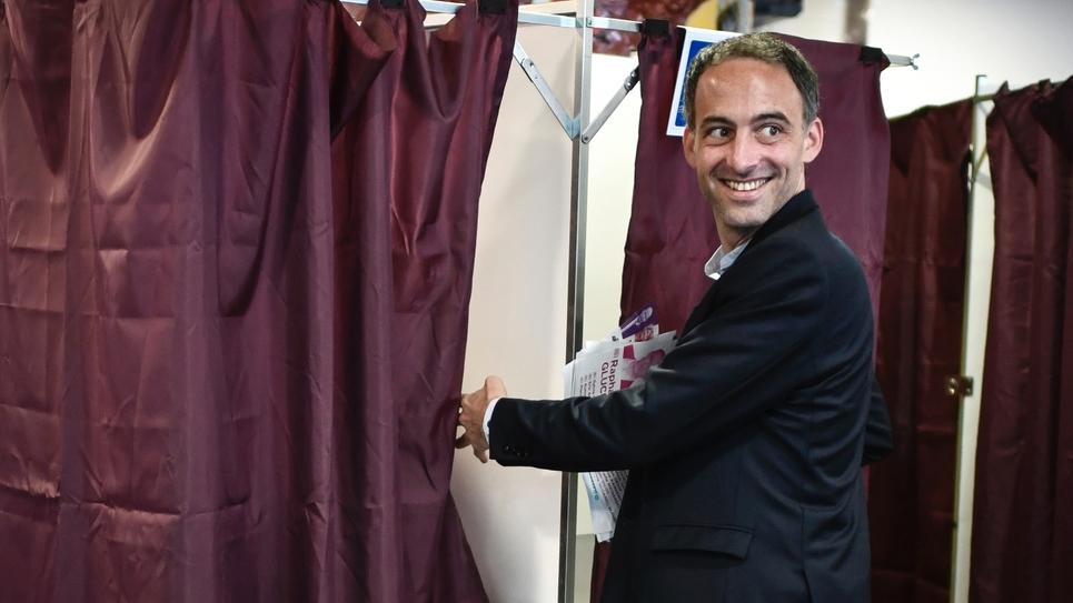Le député européen Raphaël Glucksmann (Place publique), le 26 mai 2019 à Paris
