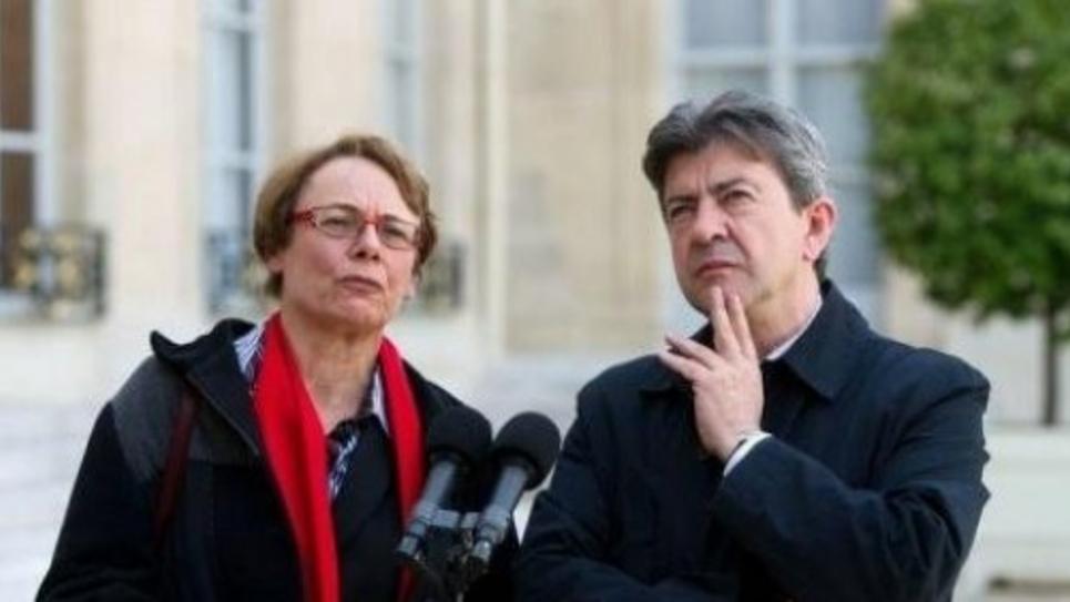 Martine Billard et Jean-Luc Mélenchon