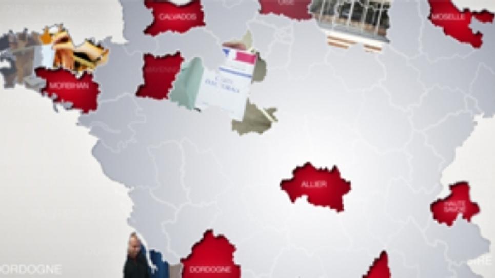 Dispositif élections départementales 2015 sur Public Sénat, la chaîne des territoires