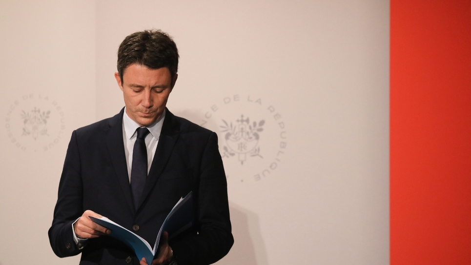 Le porte-parole du gouvernement Benjamin Griveaux à l'Elysée, à l'issue d'un Conseil des ministres, le 30 janvier 2019