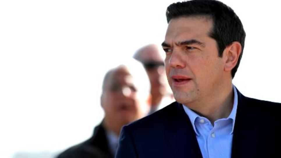 Le nouveau Premier ministre grec, Alexis Tsipras, à Nicosie, le 3 février 2015