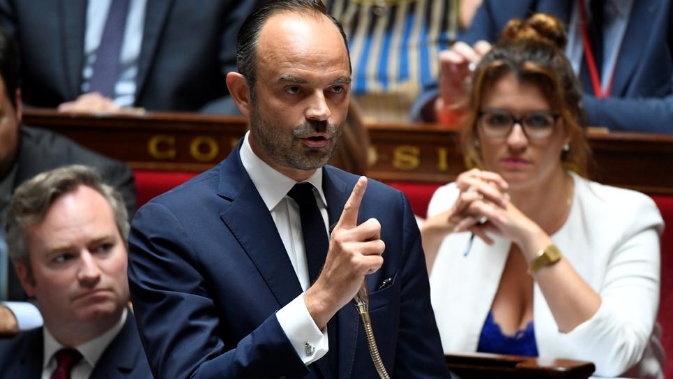 Le Premier ministre français Edouard Philippe répond aux questions des députés, le 24 juillet 2018, à l'Assemblée Nationale