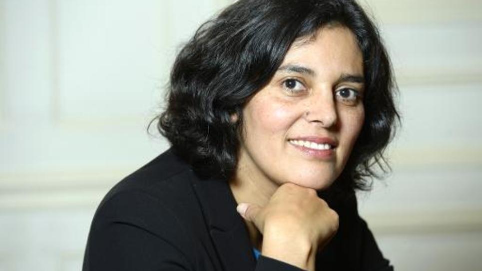 La secrétaire d'Etat à la Politique de la Ville, Myriam El-Khomri, pose le 27 novembre 2014 à Paris