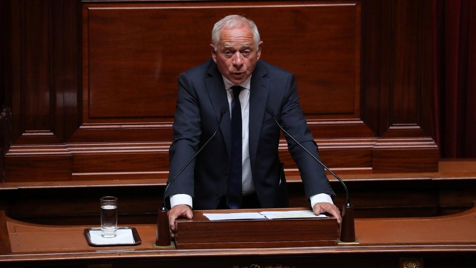 François Patriat, le chef de file des sénateurs En Marche !, le 9 juillet 2018 lors du Congrès de Versailles