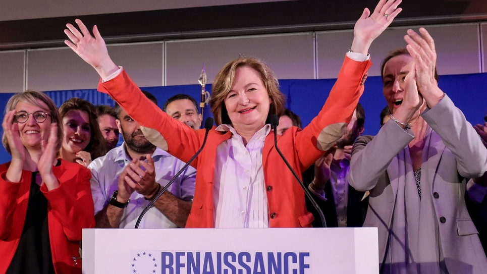 Nathalie Loiseau le 26 mai 2019 à l'annonce des résultats des élections européennes