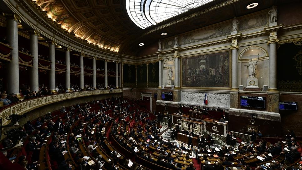 Les députés en session à l'Assemblée nationale, le 7 mars 2018 à Paris