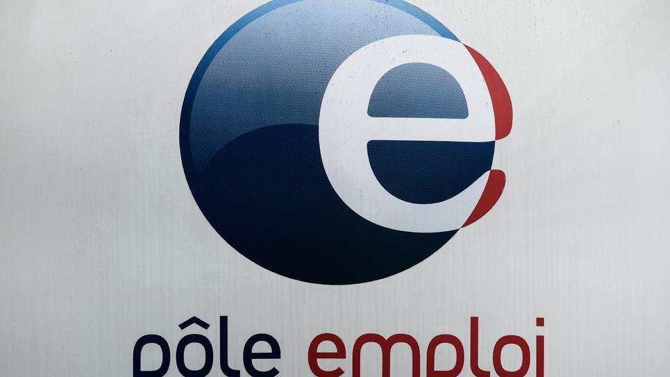 Le logo de Pôle emploi, le 23 mai 2018 à Paris