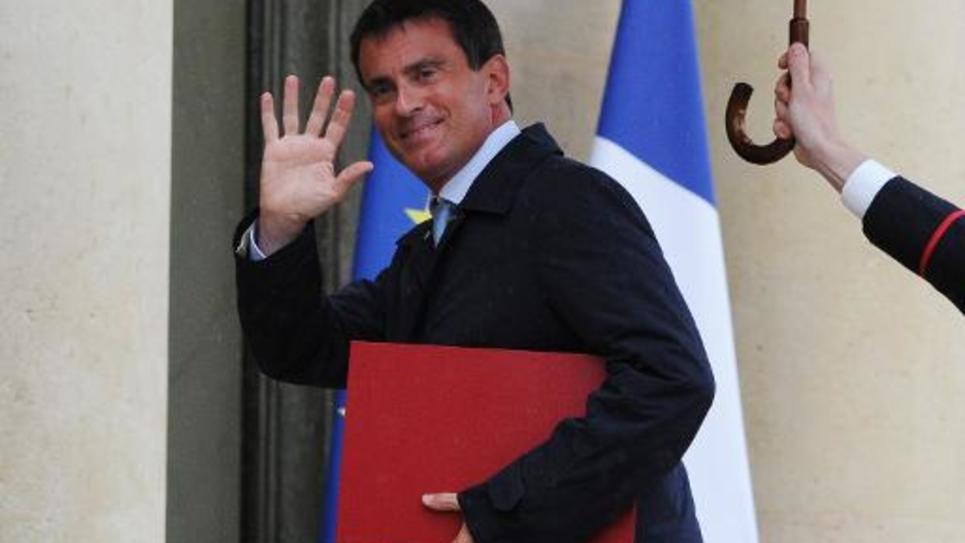 Manuel Valls à l'Elysée le 25 août 2014