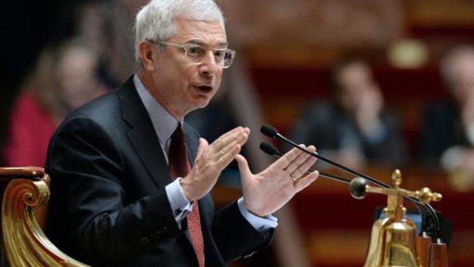 Le président de l'Assemblée nationale, Claude Bartolone (PS), le 14 mai 2014 à l'Assemblée nationale à Paris