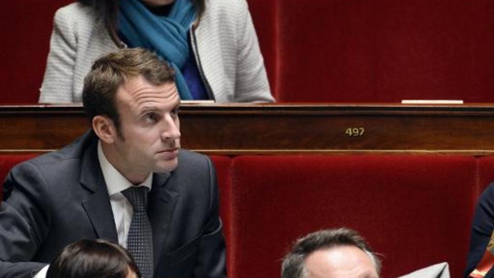 Le ministre de l'Economie Emmanuel Macron à l'Assemblée nationale le 29 octobre 2014 à Paris