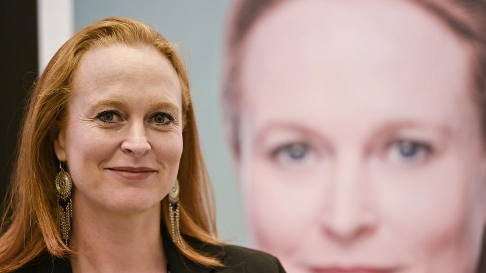 Violette Spillebout, candidate à la mairie de Lille investie par LREM, le 18 octobre 2019 à Lille