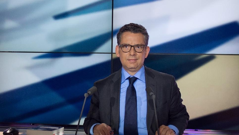 Frédéric Haziza sur le plateau de LCP, à Paris  le 14 mai 2013
