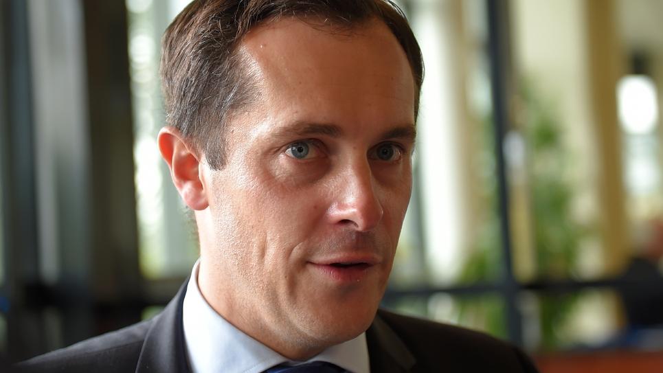 Le vice-président du FN Nicolas Bay le 1er octobre 2017 à Chasseneuil-du-Poitou