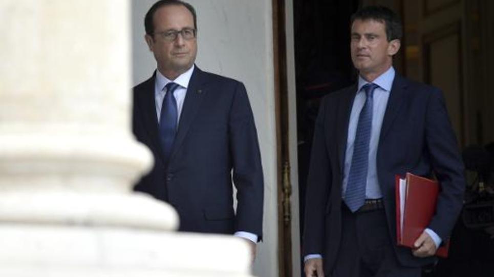 François Hollande et Manuel Valls, le 27 août 2014 à l'Elysée