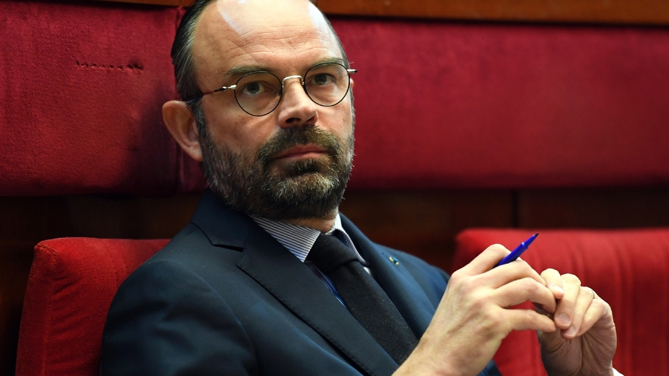 Edouard Philippe lors d'une séance au Conseil économique social et environnemental à Paris, le 12 mars 2019