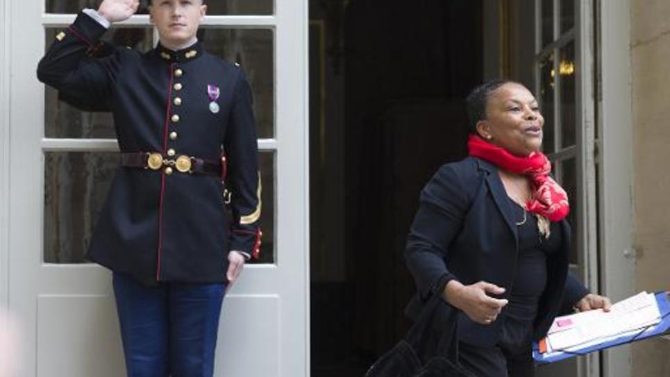 Christiane Taubira à son arrivée à Matignon le 30 mai 2014 à Paris