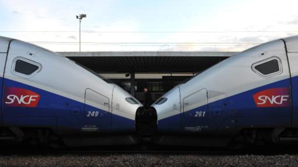 Un TGV en gare de Tours