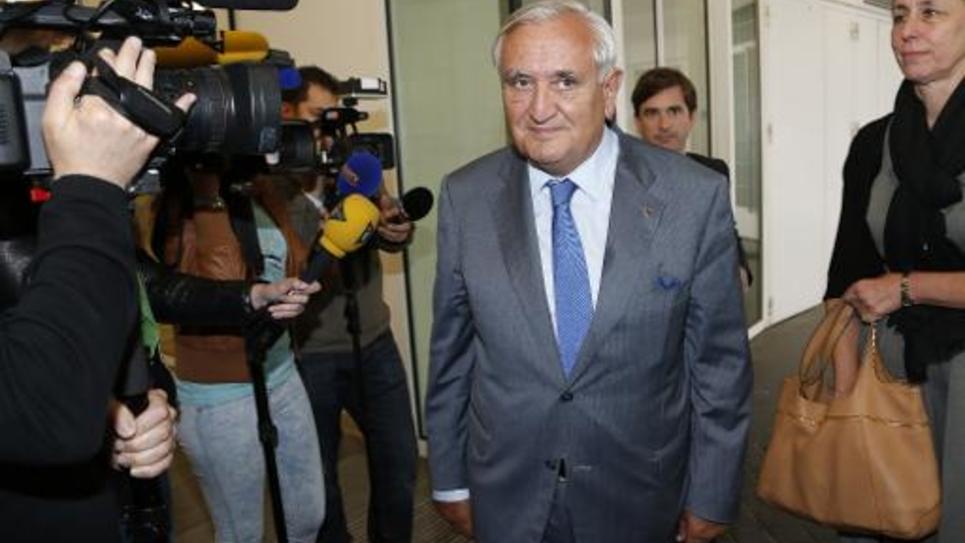 Jean-Pierre Raffarin au siège du parti Les Républicains, le 9 juin 2015