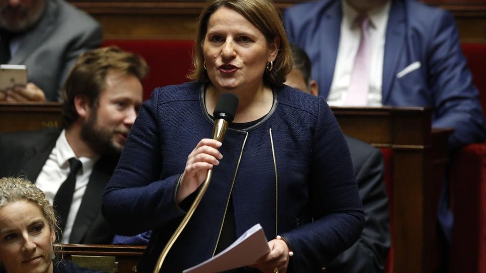 La cheffe de file des députés socialistes Valérie Rabault en novembre 2017 à l'Assemblée
