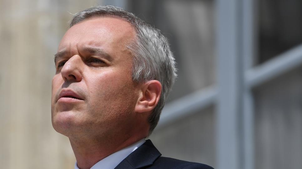 François de Rugy lors de la cérémonie de  passation de pouvoir au ministère de la Transition écologique et solidaire, à Paris, le 17 juillet 2019.