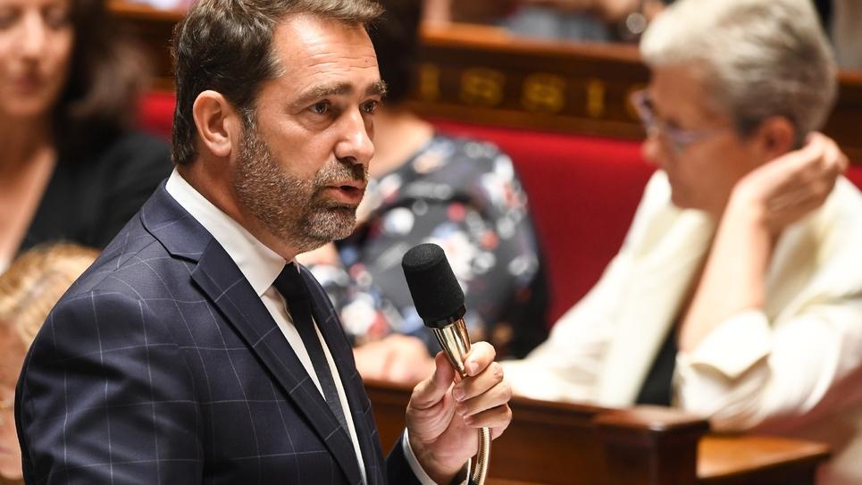Le secrétaire d'Etat aux relations au Parlement  Christophe Castaner à l'Assemblée nationale le 3 juillet 2018