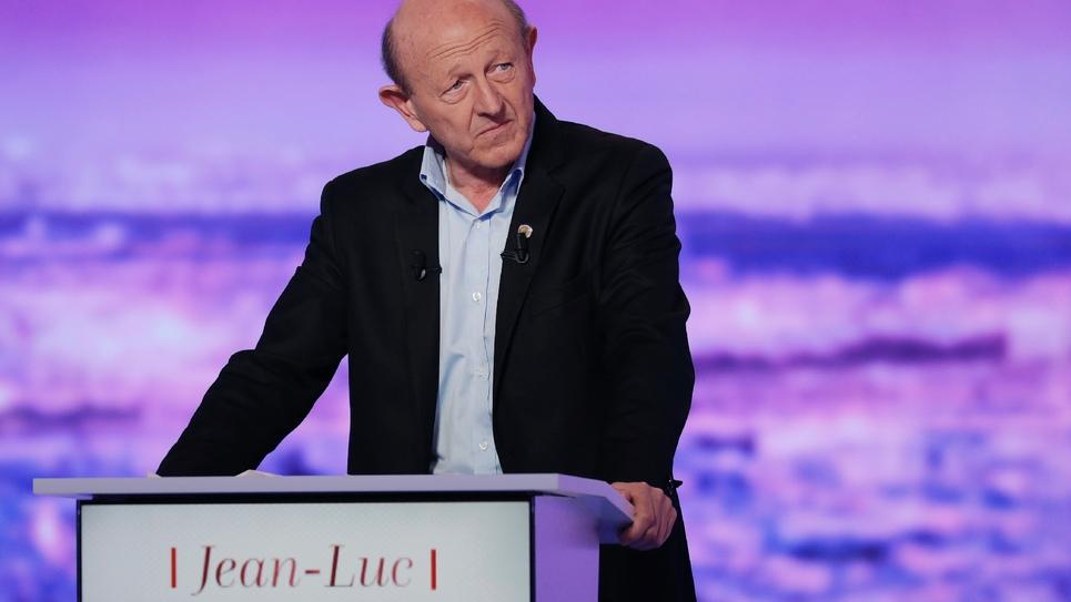 Jean-Luc Bennahmias sur le plateau de TF1 à La-Plaine Saint-Denis, le 12 janvier 2017.