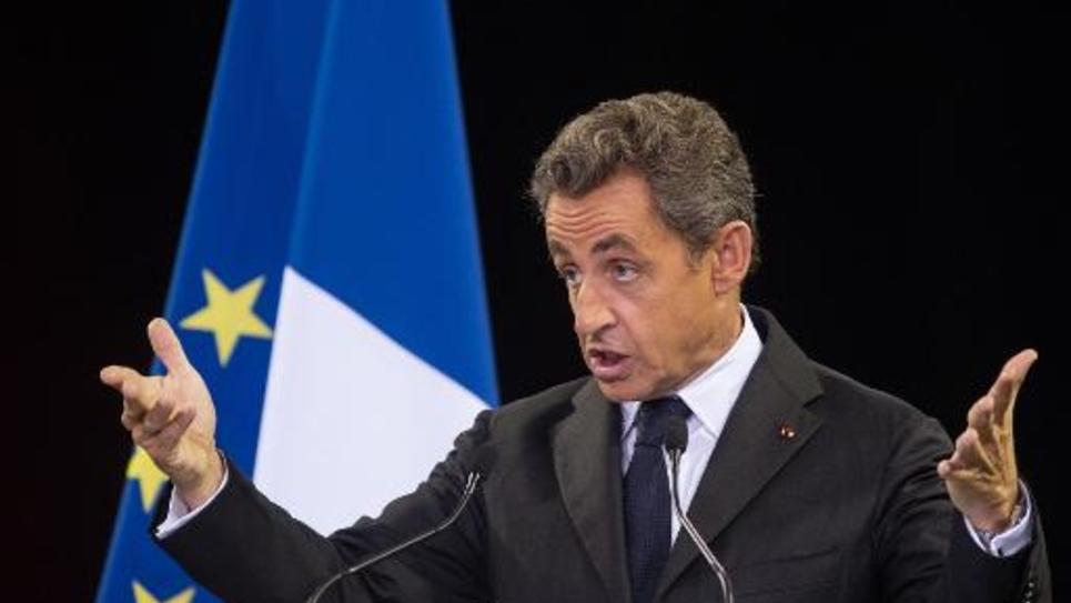 Le candidat à la présidence de l'UMP Nicolas Sarkozy lors d'un meeting à Mulhouse le 19 novembre 2014