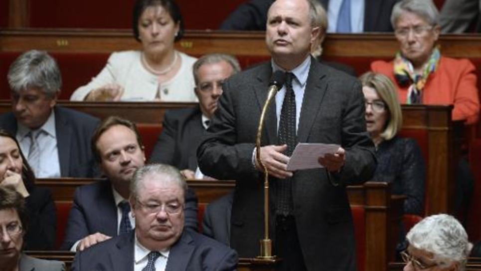 Bruno Le Roux, président du groupe PS à l'Assemblée, le 28 octobre 2014 au Parlement