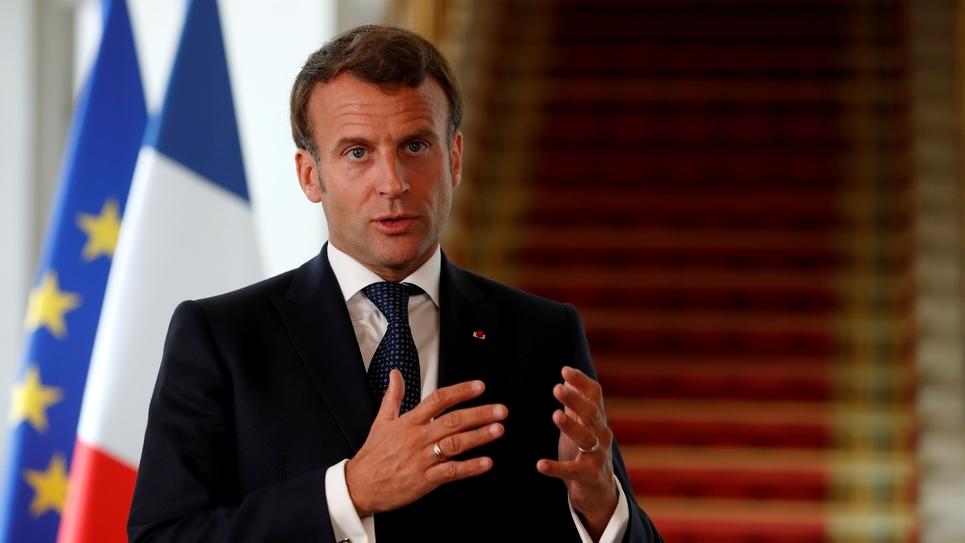 Emmanuel Macron à l'Elysée le 4 mai 2020