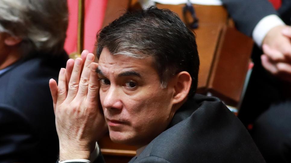 Le premier secrétaire du Parti socialiste Olivier Faure à l'Assemblée nationale, le 18 avril 2018