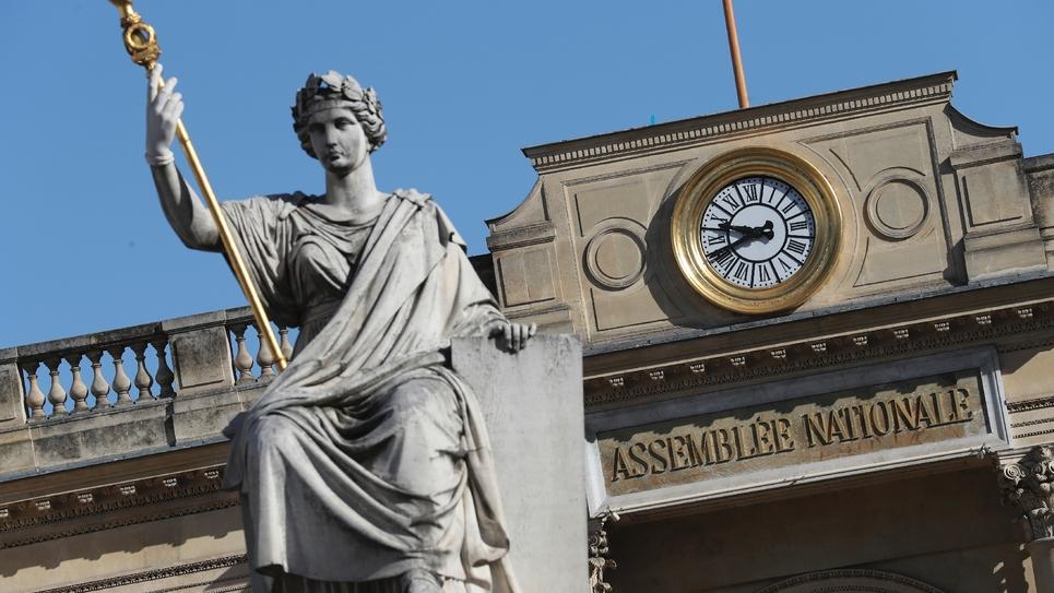 L'entrée de l'Assemblée nationale le 25 mars 201
