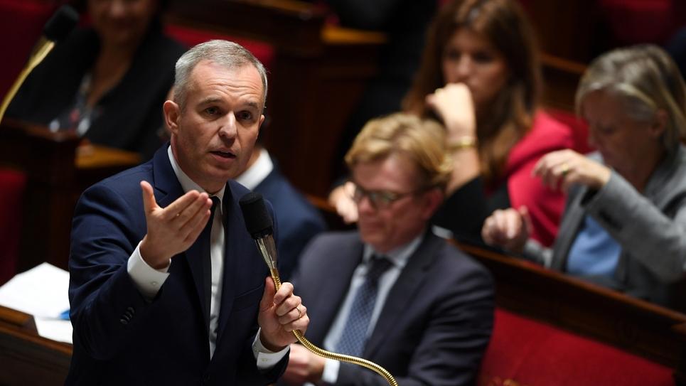 Le ministre de la Transition écologique François de Rugy à l'Assemblée nationale à Paris, le 27 novembre 2018
