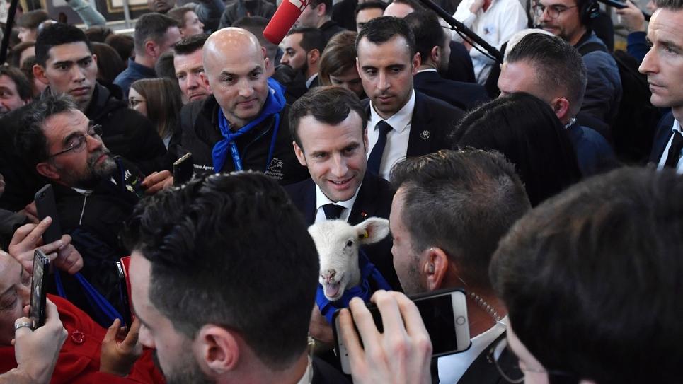 Emmanuel Macron s'exprime au Salon de l'Agriculture le 23 février 2019 à Paris