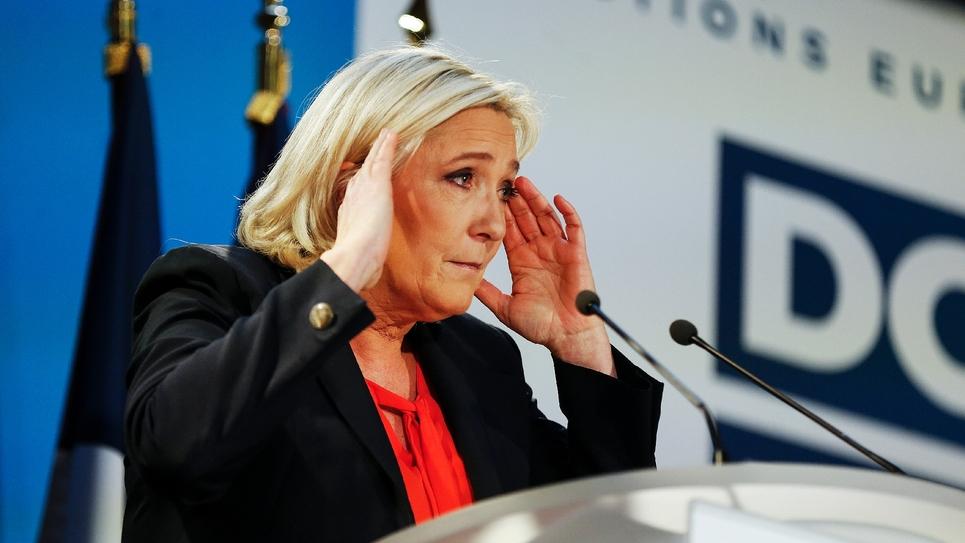 Marine Le Pen en meeting le 9 février 2019 à Saint-Ebremond-de-Bonfosse