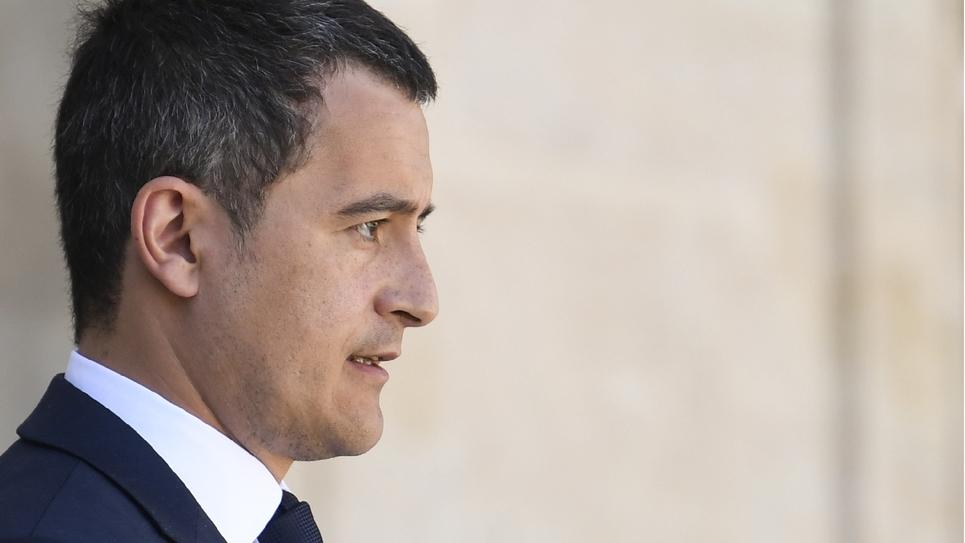 Le ministre des Comptes publics, Gérald Darmanin, à la sortie du Conseil des ministres, au Palais de l'Elysée, à Paris, le 27 avril 2018