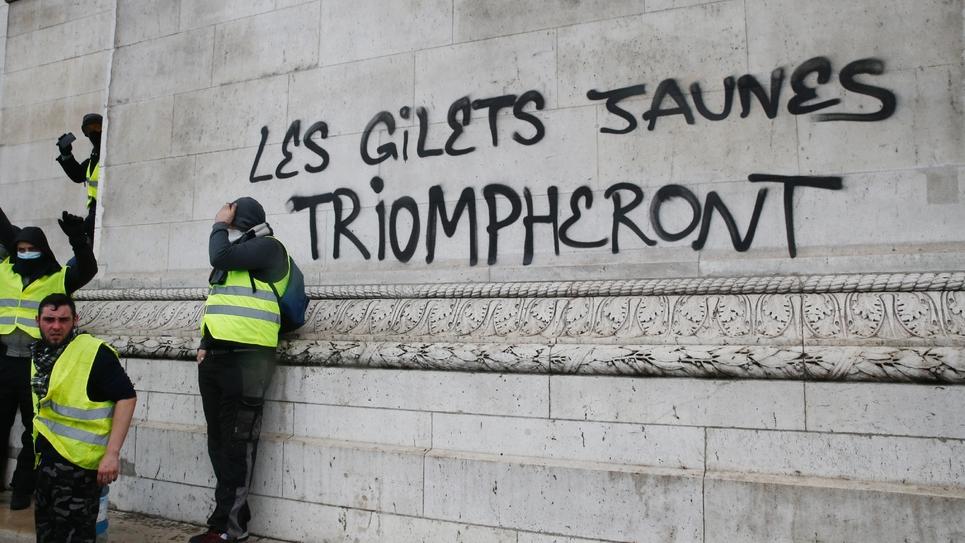 Graffiti sur un mur à Paris